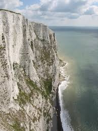 The cliffs of Dover (photo from Wikipedia).  The white is essentially the skeletons of dead algae over thousands of years.